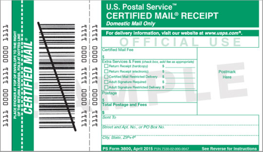 Certified USPS Mail for Secure and Trackable Correspondence with Creditors